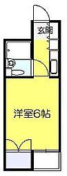 ベルトピア新松戸[203号室]の間取り