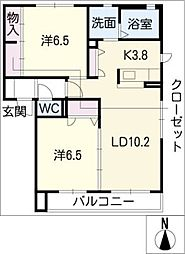 フラゴリーノ相見A棟[2階]の間取り