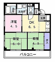 コーポ清華 貸店舗付マンション[0203号室]の間取り