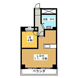 西穂高ハイツ[4階]の間取り
