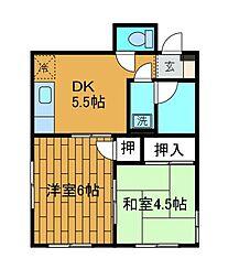 神奈川県相模原市南区相模台2の賃貸マンションの間取り