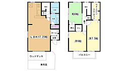 兵庫県神戸市北区谷上南町7丁目の賃貸アパートの間取り
