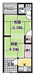 [テラスハウス] 大阪府門真市打越町 の賃貸【大阪府 / 門真市】の間取り