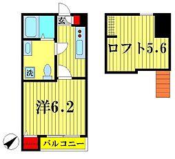 松戸新田LUKY HOUSE[1階]の間取り