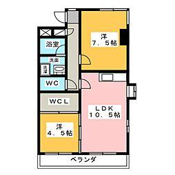 ペアシティー1[2階]の間取り