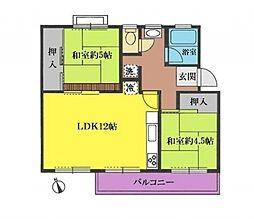 神奈川県横浜市戸塚区原宿3丁目の賃貸マンションの間取り