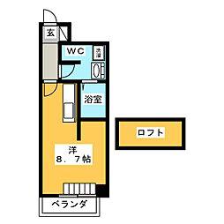 UMEX−9[4階]の間取り
