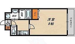 W.O.B京橋 7階1Kの間取り