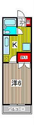 ハイツ大室[1階]の間取り