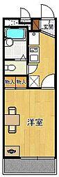 レオパレス甲子園CITY[2階]の間取り