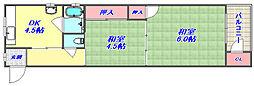 湊川第1マンション[5D号室]の間取り