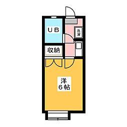 松野ハイツ2[2階]の間取り
