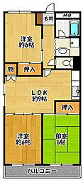 坂本第2ビル[402号室]の間取り