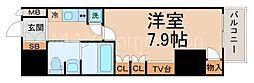 レジュールアッシュPREMIUMTWIN−1[15階]の間取り