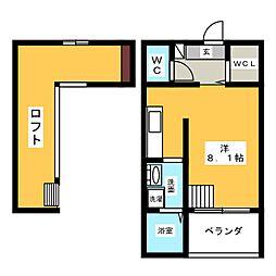 ハイツLLH[1階]の間取り