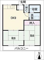 ニコニコハイツ[1階]の間取り