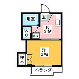 コーポ旭[1階]の間取り