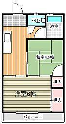 水間ビル(2DK)[403号室]の間取り