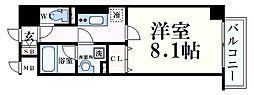 神戸市海岸線 みなと元町駅 徒歩2分の賃貸マンション 3階1Kの間取り