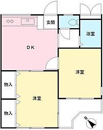 すすきのマンション[302号室]の間取り