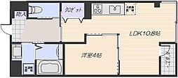 広島電鉄宮島線 広電五日市駅 徒歩26分の賃貸マンション 2階1LDKの間取り