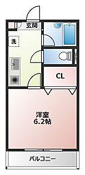 横浜元町ガーデン12(ヨコハマモトマチガーデン12)[3階]の間取り