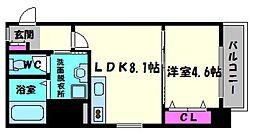 GLAD SEKIME[3階]の間取り
