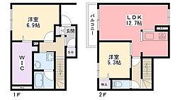 プレミアムコート甲子園[1階]の間取り
