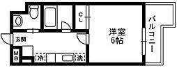 アルペジオ生田[5階]の間取り