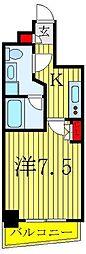 都営三田線 板橋本町駅 徒歩7分の賃貸マンション 3階1Kの間取り