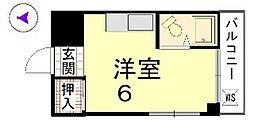カーサ船岡山[105号室]の間取り