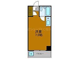 Osaka Metro長堀鶴見緑地線 西長堀駅 徒歩5分の賃貸マンション 4階ワンルームの間取り