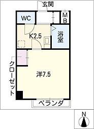 飯田ビル[4階]の間取り