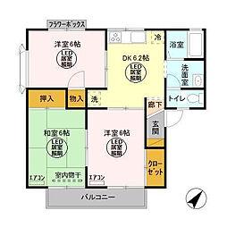 メゾン森III[2階]の間取り