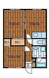 サンホワイトM508[2階]の間取り