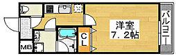フジパレス南清水町2番館[2階]の間取り