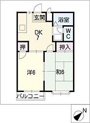 エルディム福井[1階]の間取り