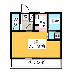 ピュアルーセント[1階]の間取り