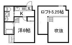 ウエスト9京都駅 1階1SKの間取り
