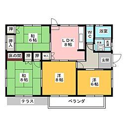 [一戸建] 愛知県長久手市岩作三ケ峯 の賃貸【/】の間取り