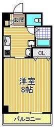 ロイヤルコート[9階]の間取り