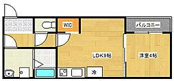 大阪府大阪市住之江区南加賀屋2丁目の賃貸アパートの間取り