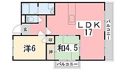ルークレジデンス姫路II[101号室]の間取り