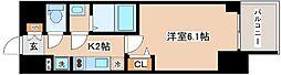 JR山陽本線 兵庫駅 徒歩10分の賃貸マンション 12階1Kの間取り
