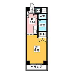 メゾン・ド・ヤスジマ[1階]の間取り