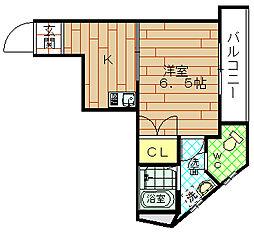 新港ハイツ[2階]の間取り