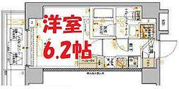 ベルシード横濱吉野町マキシヴ 2階1Kの間取り