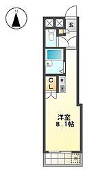 レジデンス藤[3階]の間取り