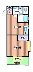 パークサイドN[1階]の間取り