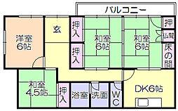 [一戸建] 福岡県久留米市御井町 の賃貸【/】の間取り